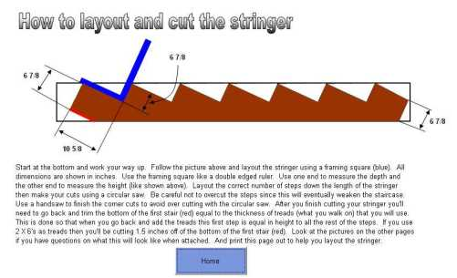 Stair/Stringer Calculator Software   Greenhomes, Helping